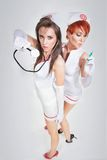 Two sexy nurses Stock Image