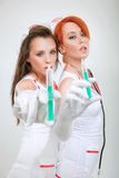 Two sexy nurses Royalty Free Stock Photos