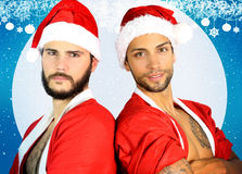 Two sexy santa Royalty Free Stock Photo