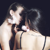 Two sexy woman kissing Royalty Free Stock Photography