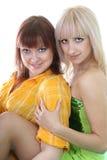 Two sexy women over white Stock Photo
