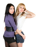 Two young girlfriends Royalty Free Stock Photo
