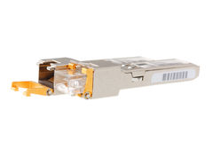Two SFP network module with RJ45 jack Royalty Free Stock Photography
