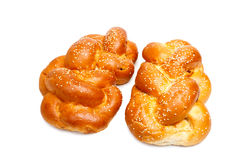 Two shabbat challah Royalty Free Stock Photo