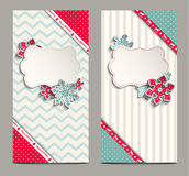 Two shabby chic cards, can be used as christmas Royalty Free Stock Photos