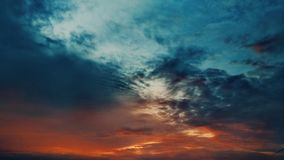 Two shades of evening sky Royalty Free Stock Photo