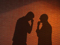 Two shadows chating Royalty Free Stock Images