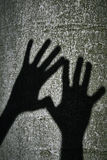 Two shadows hands Royalty Free Stock Photo