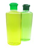 Two shampoo bottles Royalty Free Stock Image
