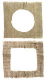 Two shapes burlap canvas Royalty Free Stock Photos