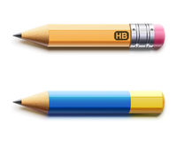 Two sharpened pencils Stock Photo