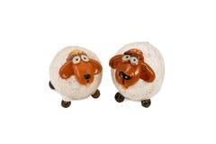 Two sheep figurine Stock Photos