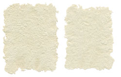 Two sheets of handmade paper Stock Photos