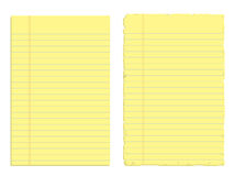 Two sheets of paper Royalty Free Stock Photo