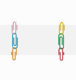 Two sheets of paper clips Royalty Free Stock Image