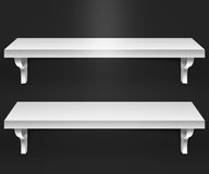Two Shelves Black Background Stock Photography