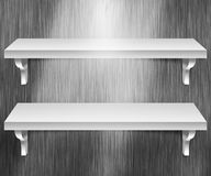 Two Shelves Metal Background Royalty Free Stock Photo
