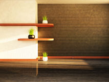 Two shelves on the wall Royalty Free Stock Photo