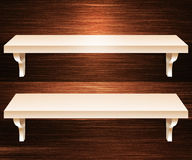 Two Shelves Wooden Background Royalty Free Stock Photos