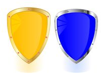 Two shields on white Stock Image