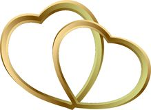 Gold hearts Stock Photo