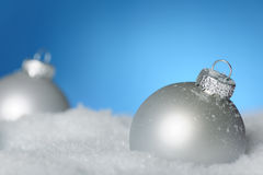 Two shiny baubles Royalty Free Stock Images