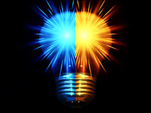 Two Shiny Bulbs_half Royalty Free Stock Images