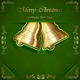 Two shiny Christmas bells Royalty Free Stock Images
