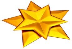 Two shiny gold stars Stock Photo