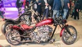 Two shiny motobike. Royalty Free Stock Photos