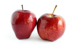 Two Shiny Red Apples Stock Photo