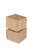 Two shipping boxes Stock Images