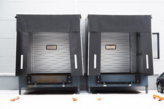 Two Shipping Gates for Trucks. Stock Images