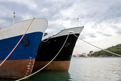 Two ships. In the port of preko, croatia Royalty Free Stock Photo