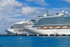 Two Ships in Cozumel royalty free stock photos
