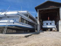 Two ships in the dry dock Stock Photo