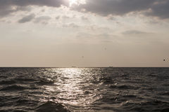 Two ships on the horizon Stock Photo