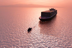 Two ships in the sea. Stock Photography