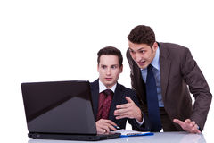 Two shocked business men Stock Photography