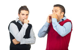 Two shocked men Stock Images