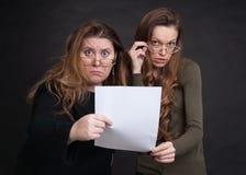 Two shocked women Royalty Free Stock Photos