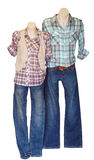 Two Shop Mannequins in Casual Dress Royalty Free Stock Photography