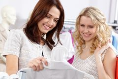 Two shoppers Royalty Free Stock Images