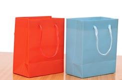 Two shopping bags Stock Photos