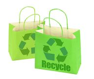 Two shopping bags Stock Photo