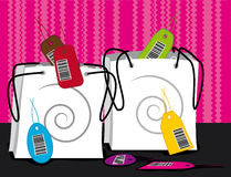 Two shopping bags. Sales concept illustration Royalty Free Stock Image