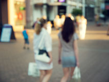 Two shopping girl Stock Photos