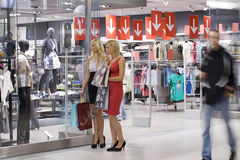Two shopping women Royalty Free Stock Photography