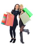 Two shopping women Stock Photos