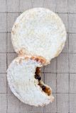 Two short crust pastry mince pies Stock Image